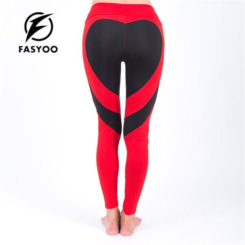 0c8e0579c90ac 2019 FASYOO Women Fitness Pant Big Heart Shape Woman Workout Sportswear Gym  Leggings Sport Tights Women Running Tight From Seller_sportsoutdoor, ...