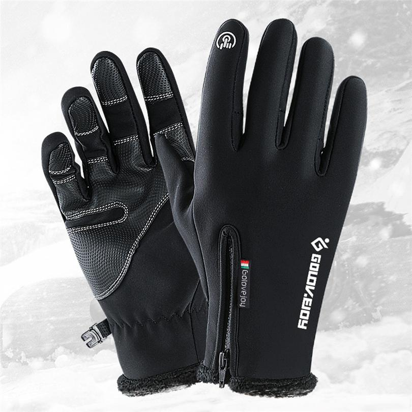 Cycling Practical Women Men M L Xl Cycling Gloves Snowboard Gloves Motorcycle Riding Winter Touch Screen Snow Waterproof Glove Hot Sale Drop Shipp