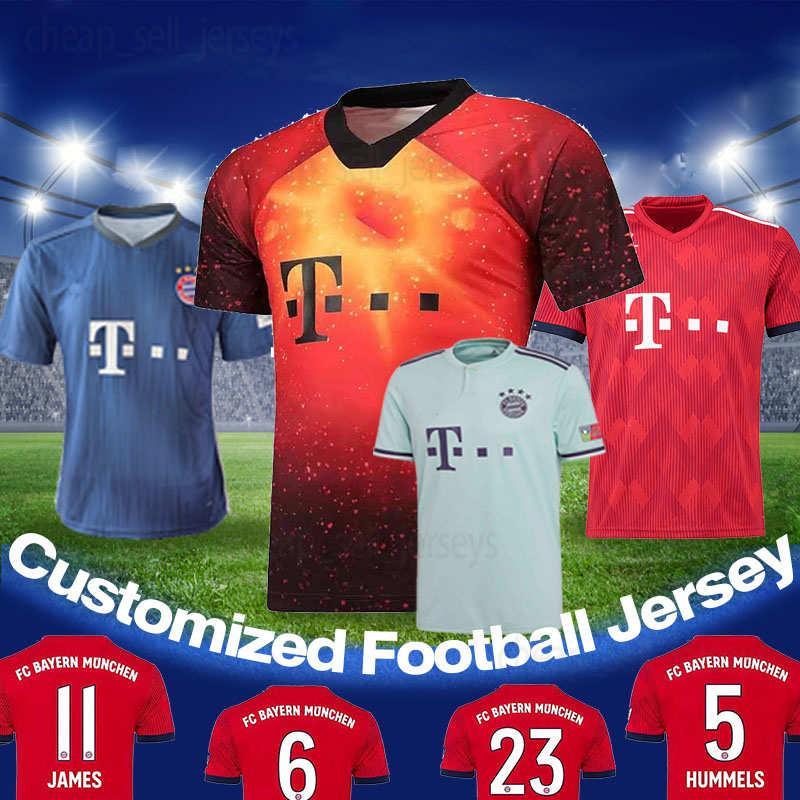 competitive price 51796 5c420 bayern Munich soccer jersey JAMES RODRIGUEZ LEWANDOWSKI MULLER KIMMICH  jersey 27 ALABA 23 VIDAL 1 NEUER foot Champions league