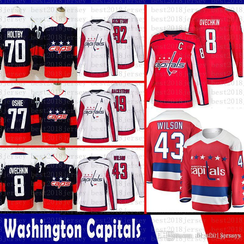 77006854a57 Hot Washington Capitals 8 Alex Ovechkin Hockey Jerseys 92 Kuznet 43 ...