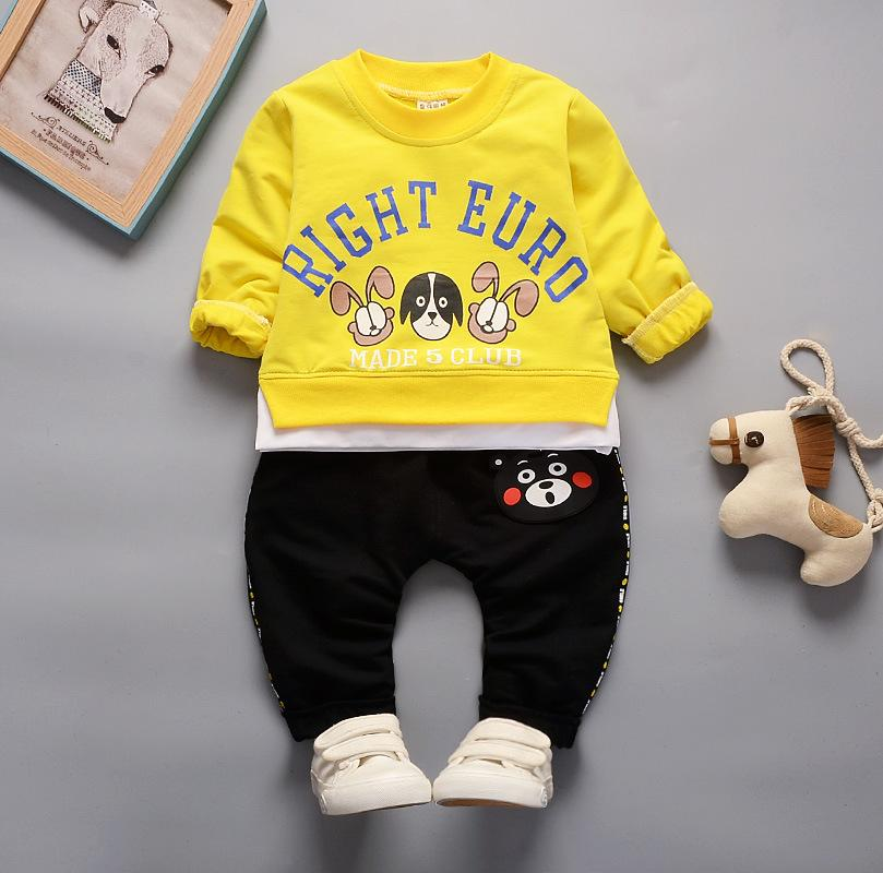 Kids Sets 1-3T Kids T-shirt and Short Pants 2 Pcs/sets 3 Colors Children Sports Sets Baby Boys Girls 95% Cotton Sets hf52101