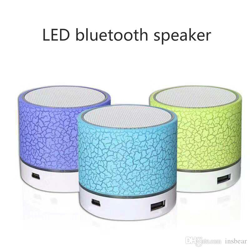 New A9 glare crack Bluetooth speaker Mini portable LED subwoofer U disk card audio universal
