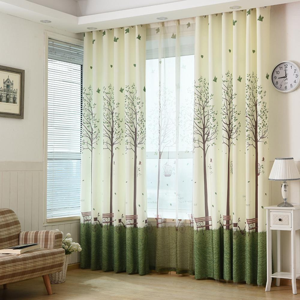 Gyrohome Children Bedroom Curtain Trees Print Curtains matched Tulle  Alternative GYC2181