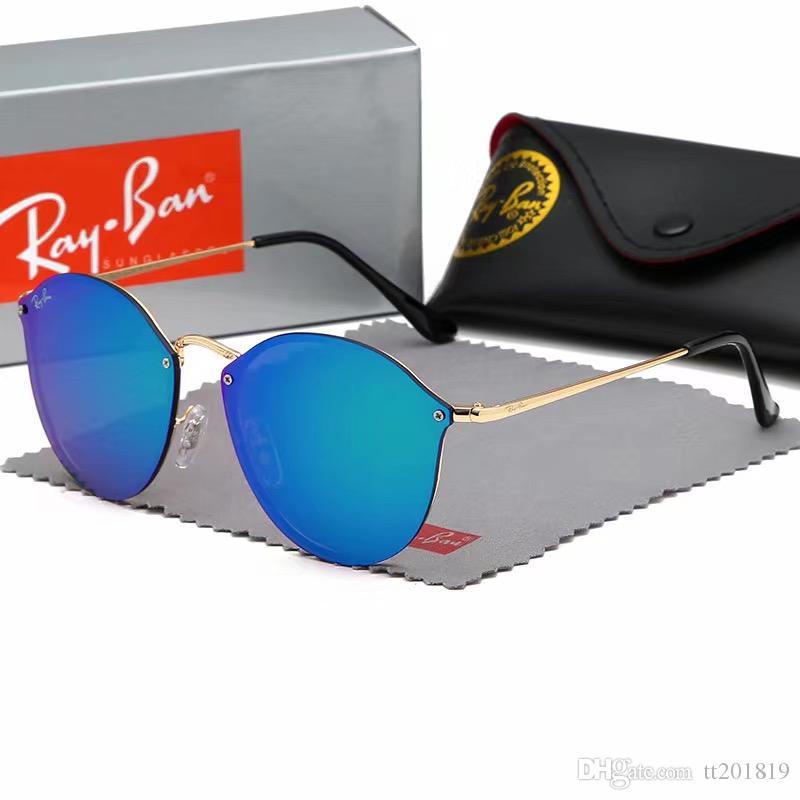 482f832c7 Compre AAAAT Marca Designer De Moda Homens Óculos De Sol Proteção UV400  Esporte Ao Ar Livre Do Vintage Das Mulheres Óculos De Sol Retro Óculos 6  Cor De ...