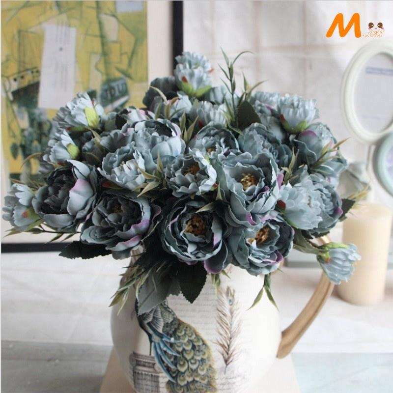1 Bouquet Pretty Mini Peony Silk Artificial Flower Wedding Party
