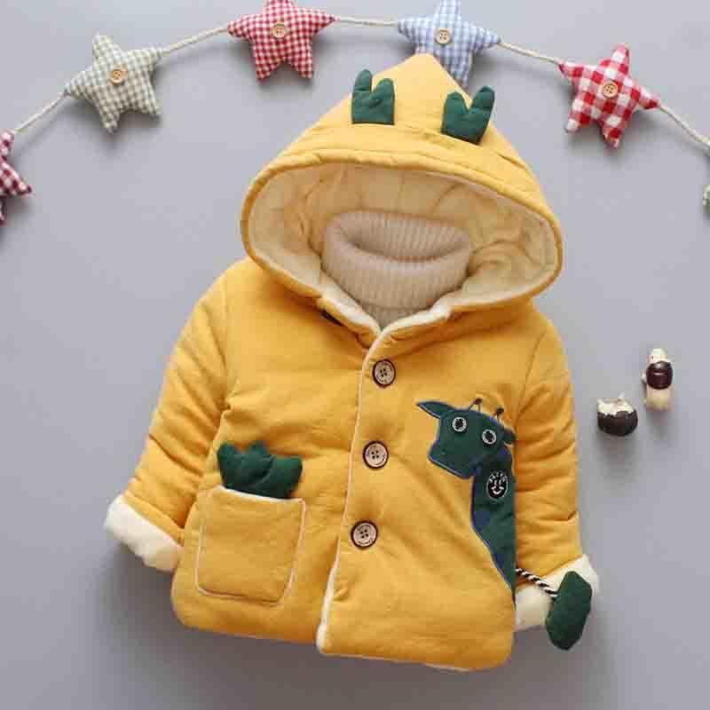 b0525d6d2663 Good Quality 2019 Winter Newborn Girl Clothes Fashion Cartoon Hooded ...