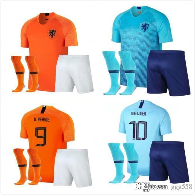 1fc2b04ed9c 2019 Nations League 18 19 Netherlands Jersey Adult Kit Holland Home ...