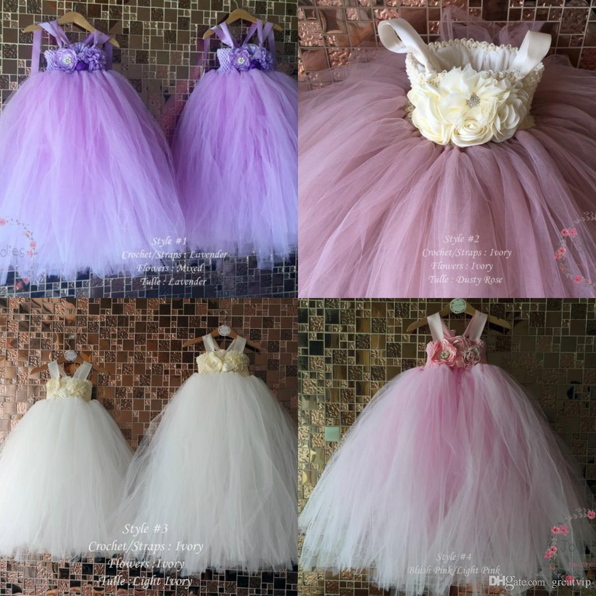 6d42c8b2836 Lovely Flower Girl Dresses Ball Gown Spaghetti Handmade Flower Princess  Birthday Party Dress Baby Kids Custom Made Gowns Bridesmaid Dresses Uk Cute  Dresses ...