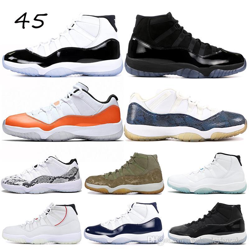 the latest e9e77 e017a Acheter 2019 Chaussures De Basket 11 11s Hommes Femmes Concord Casquette Et  Robe Orange Trance Platine Teinte Platinum Légende Bleu Gamma Bleu Sport  Baskets ...