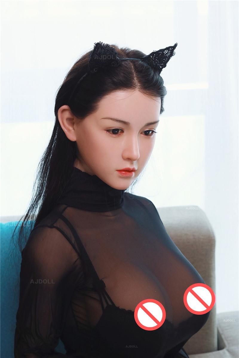 Ajdoll 진짜 TPE 실리콘 섹스 인형 성인 일본어 사랑 인형 실생활화 애니메이션 구강 질 전체 음모 큰 가슴