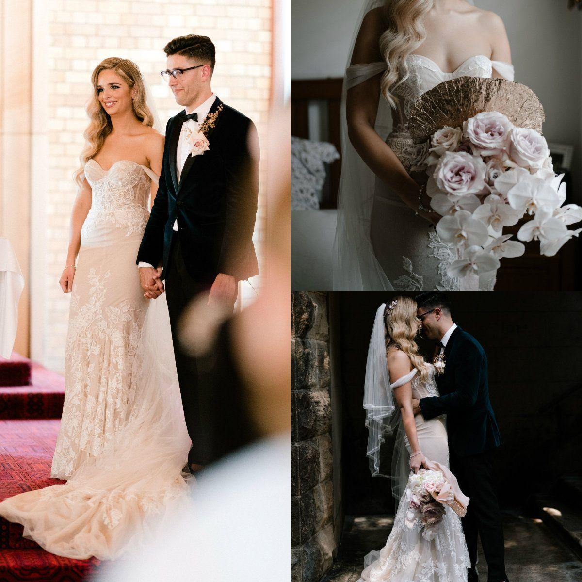 3e28ba94f16da0 Cheap Silver Wedding Dresses Photos Discount Open Back Ruffle Wedding Dress