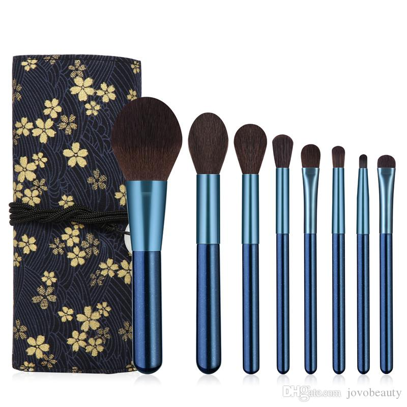 Best Selling Products Cheap Silky Soft 8 Pieces Make Up Brush with Cover Set Professional Cosmetic Bag