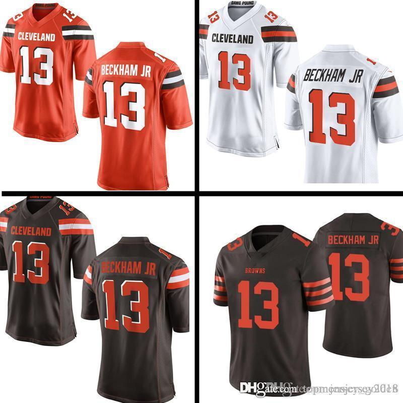 on sale faf24 f05ff Browns 13 Odell Beckham Jr Jersey Cleveland Brown 6 Baker Mayfield 27  Kareem Hunt 80 Jarvis Landry 24 Nick Chubb Jerseys