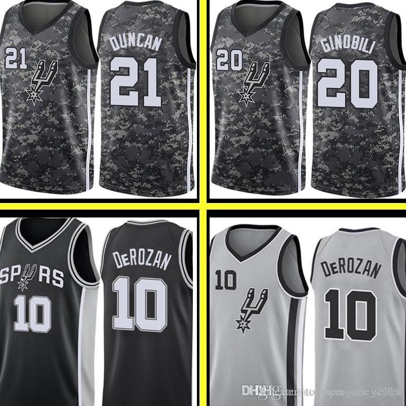 799e7b36485 2019 San 2019 Antonio DeMar DeRozan Spurs Jersey Black City Tim 21 Duncan  Manu 20 Ginobili Basketball Jerseys Top Sales From Topmensjersey2018