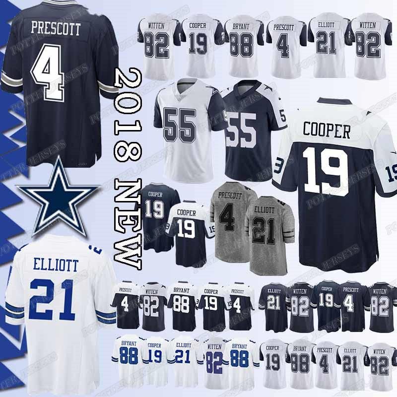 timeless design ce7a0 991b0 Top quality 55 Leighton Vander Esch Cowboys Dallas jersey 19 Amari Cooper 4  Dak Prescott 21 Ezekiel Elliott jerseys t shirt Cheap sales