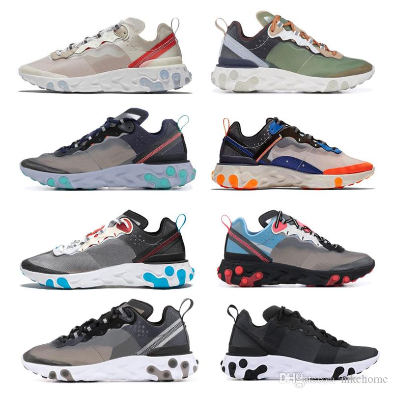 065c67732e6 Original New Arrival Authentic Upcoming React Element 87 Men's Sport  Outdoor Runner Shoes Designer Sneakers 2019 Good Quality