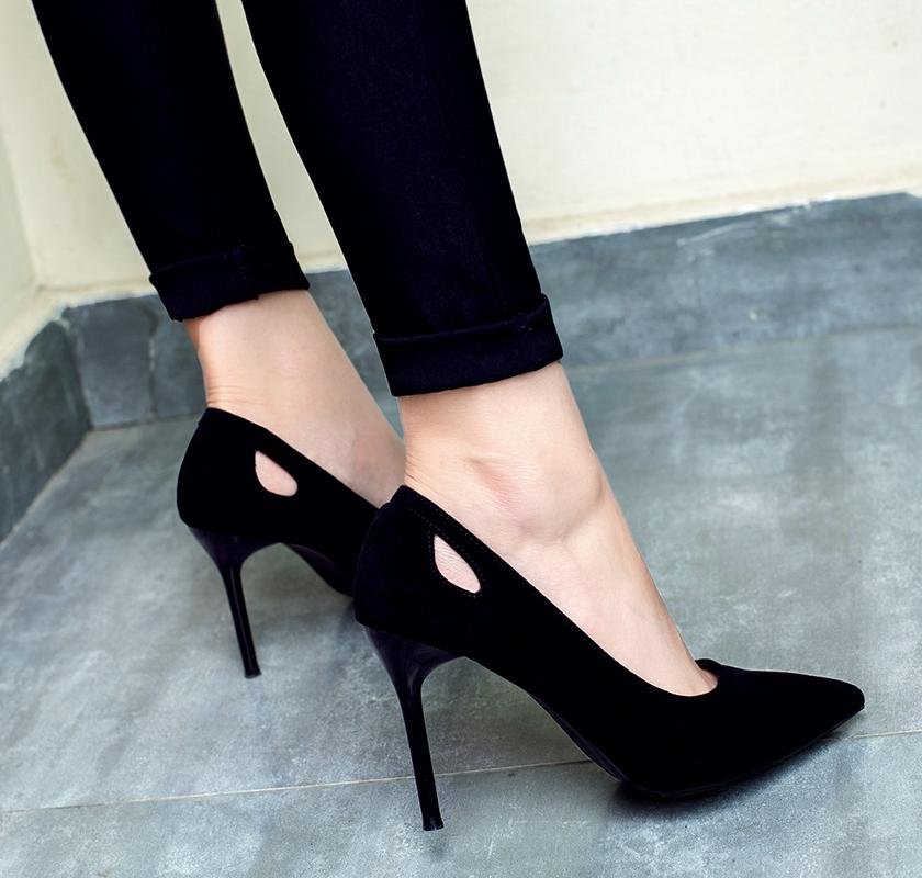 0714a78f9 Europe And America High Heels Fashion Wild Pointed Womens Shoes Rhinestones  Buckle Stiletto Wedding Shoes Elegant Single Shoes Formal Shoes Cheap Shoes  For ...