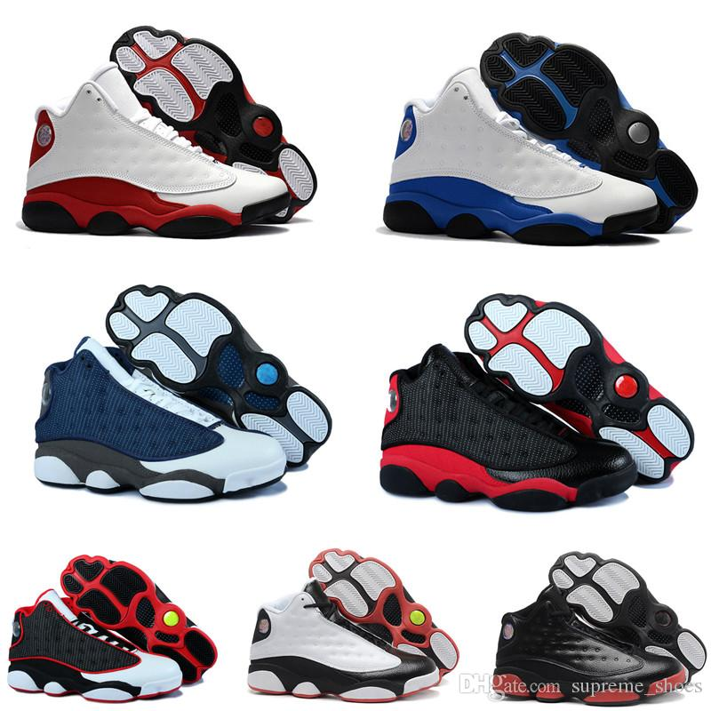 e19c0bfedafa63 2019 Best Quality 13 Bred Chicago Flint Men Women Basketball Shoes 13s He  Got Game Melo DMP Grey Toe Hyper Royal Sports Shoes Sneakers From  Supreme shoes