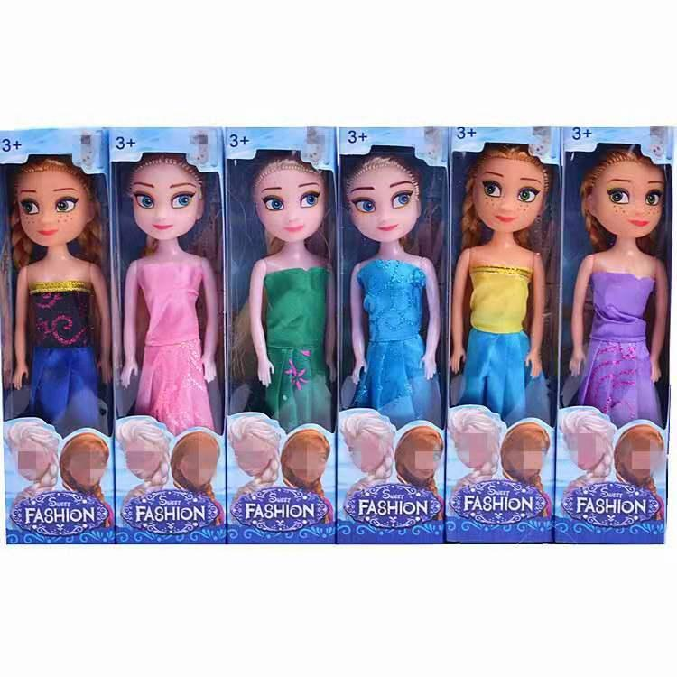 Six Barbie Dolls in boxes