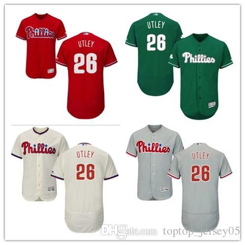 2019 2018 Philadelphia Phillies Jerseys  26 Chase Utley Jerseys  Men WOMEN YOUTH Men S Baseball Jersey Majestic Stitched Professional  Sportswear From ... 213e38c957f