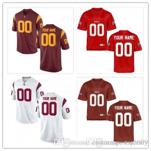 quality design 44ebf 7d01b Cheap custom USC Trojans UMass Minutemen UNLV Rebels College Football  Jersey Personalized Any Name Number Stitched Maroon Scarlet Jerseys