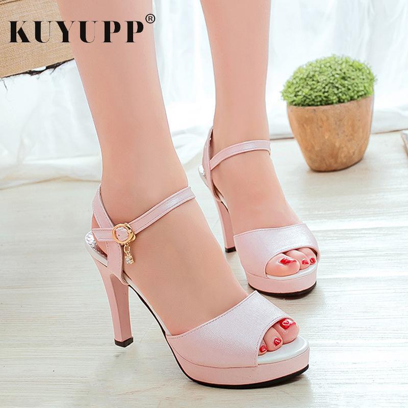 fb136fa6 Compre Zapatos Peep Toe Fashion Platform Tacones Finos Bombas Para Mujer  Verano Casual Playa Tacón Alto Señoras Sexy Sandalias Calzado KAS5747 A  $19.97 Del ...