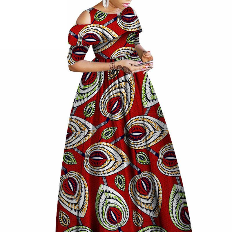 b2ca6aa1b3 2019 African Dresses For Women 2019 Loose Half Sleeve African Print Dresses  Ankle Length Prom Ankara Robe Africaine From Cfendou