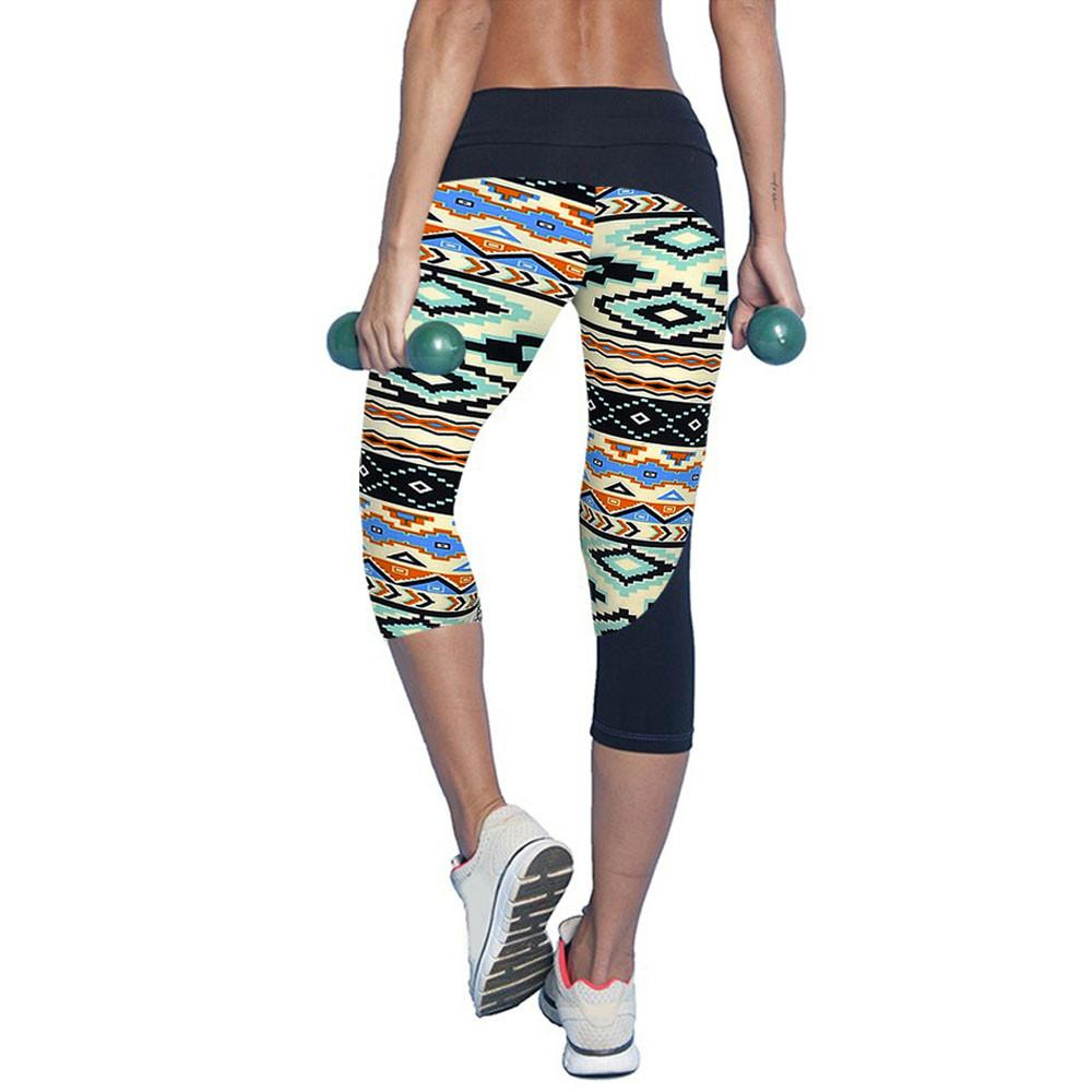 fefee76d74753 Women Sport Leggings Fitness High Waist Printed Sports Stretch ...