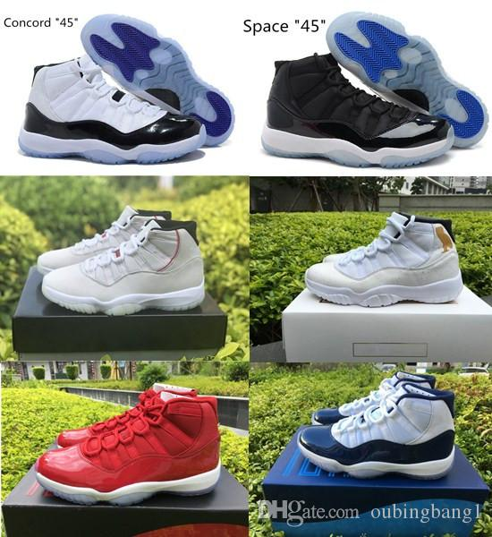 a01217dca0fe1e Platinum Tint 11 11s Space Jam 45 Bred Concord 45 23 Men Women Basketball  Shoes 11s Gym Red Navy Gamma Blue 72 10 Sneakers Basketball Mens Shoes From  ...