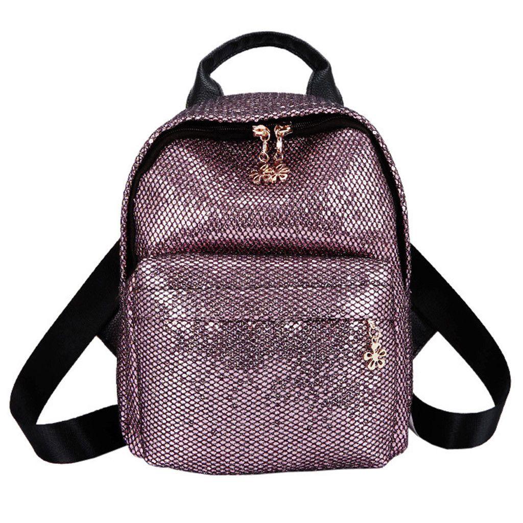 c0c20e8f159 Xiniu Women Backpack Satchel Travel Shoulder Bag Girl Sequin Solid Color School  Bag Women Backpack for School Teenagers  w1235 Backpacks Cheap Backpacks ...