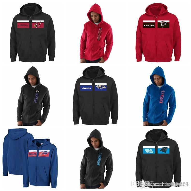 info for b4495 9b242 Cardinals Atlanta Falcons Baltimore Ravens Buffalo Bills Carolina Panthers  Chicago Bears Hook and Ladder Majestic Touchback Full-Zip Hoodie