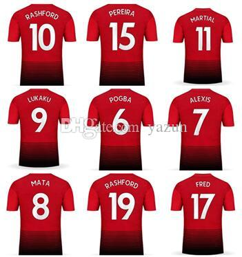 Customized 18-19 home Thai Quality sports jerseys near me,custom 9 lukaku  10 RASHFORD 11 MARTIAL 7 Alexis 14 Lingard 6 POGBA Soccer Jerseys