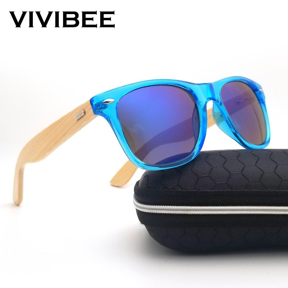 b40172b90933d2 VIVIBEE Best Natural UV400 Retro Real Wooden Bamboo Transparent Men  Sunglasses Classical Design Women Glasses Shades Electric Sunglasses  Fastrack Sunglasses ...