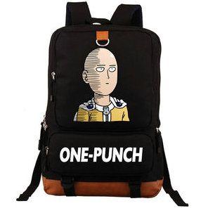 62380f564d Saitama Backpack One Punch Man Day Pack Strong Boy School Bag Cool Packsack  Computer Rucksack Sport Schoolbag Outdoor Daypack Black Backpack Camera  Backpack ...