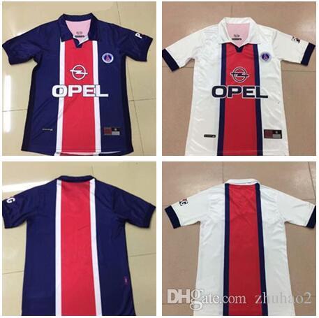 huge discount e7d3b e99a0 1998 psg RETRO Soccer Jerseys Paris Retro Notre Dame Jersey 2019 20 psg  Notre Dame Football kit soccer Shirt