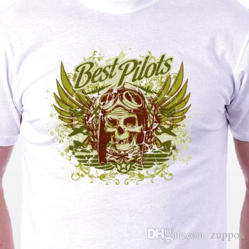 Best Pilots T Shirt Retro Skulls Death Cult MENS LADIES BIRTHDAY GIFT IDEA Shop Design Crazy Shirts Online From Jie73 1467