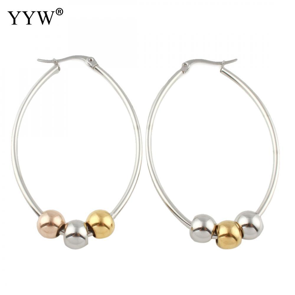 c64a5e34f 2019 Gold/Silver Stainless Steel Hoop Earring For Women Female Party  Fashion Jewelry Gift 2019 Trendy Beautiful Girl Female Gift From Luney,  $34.4 | DHgate.