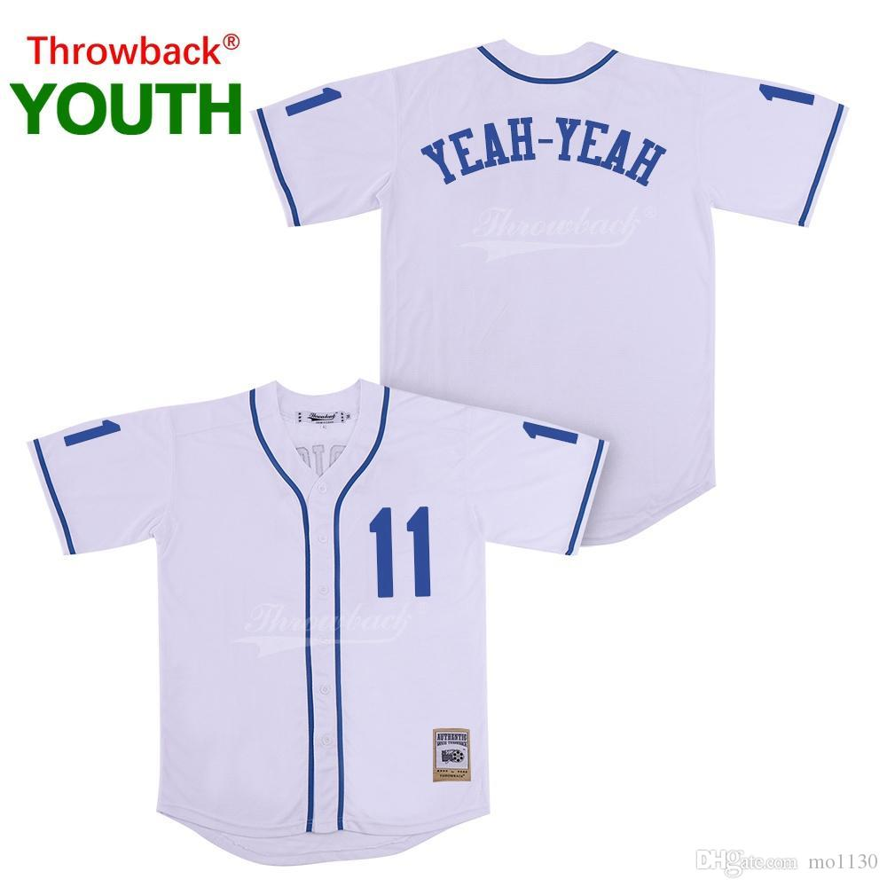 best service be763 b1935 Throwback Jersey Youth The Sandlot Movie Baseball Jerseys 11 Yeah-Yeah  Jersey Colour White Shirt Stiched 2019021824