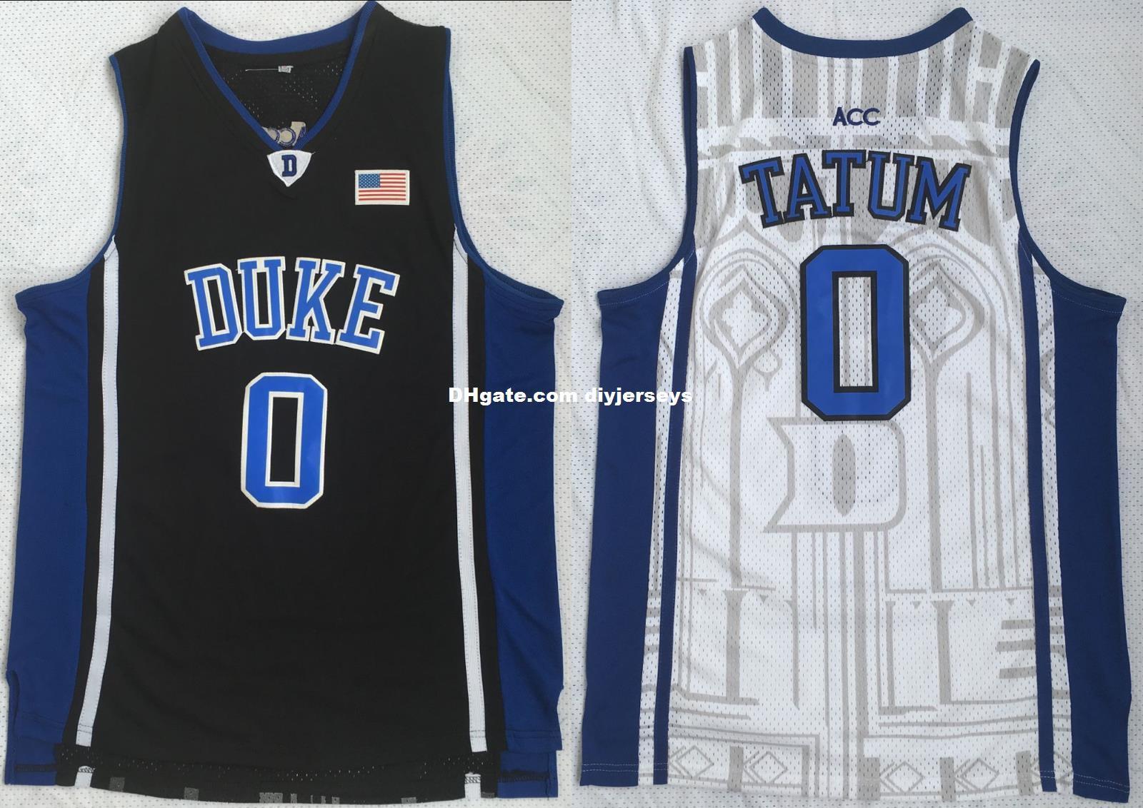huge discount 0ed0e d2559 Cheap Wholesale Jayson Tatum #0 Duke Blue Devils College Basketball Jerseys  Men Stitched White Black S - XXL