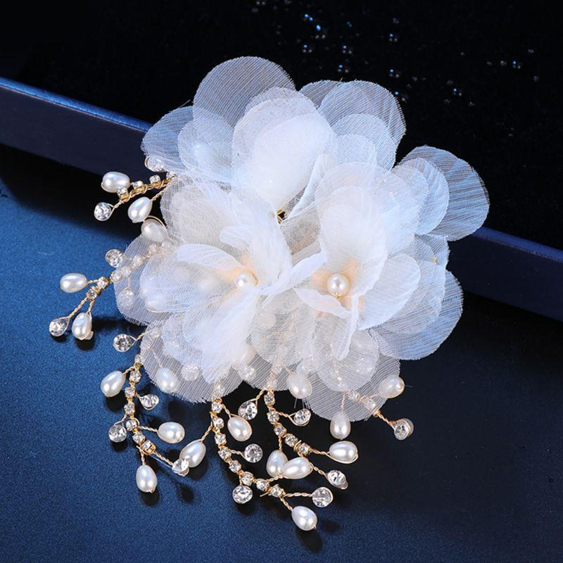 New Hot Sale Hair Clip Fashion Crystal Pearl Headdress Women Lady Children Headwear Elegant Hair Accessories Jewelry Gifts Charm