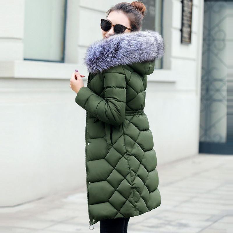 Haus & Garten 2019 Winter Jacke Frauen Dicke Winter Mantel Dame Kleidung Weibliche Jacken Lange Parkas Gefälschte Pelz Kragen Parka Unten Baumwolle Jacke