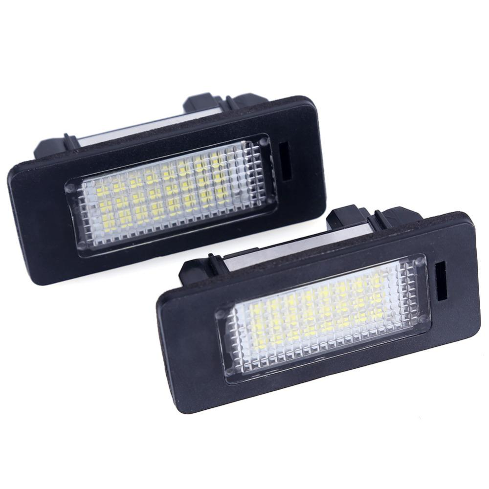 Error Free Car Led License Plate Led Light Lamp 12v White 6000K For BMW E39 E60 E82 E90 E92 E93 M3 E39 E60 E70 X5 E60 E61 M5 E88