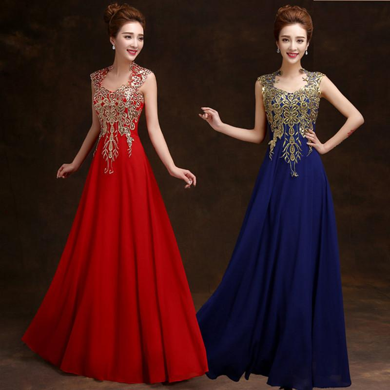 1529e93be4 2019 Cheap Elegant Formal Evening Gowns Red Evening Dresses Long Embroidery Prom  Dress Vestido De Festa Long Evening Dresses Online Shopping Long Sleeved ...