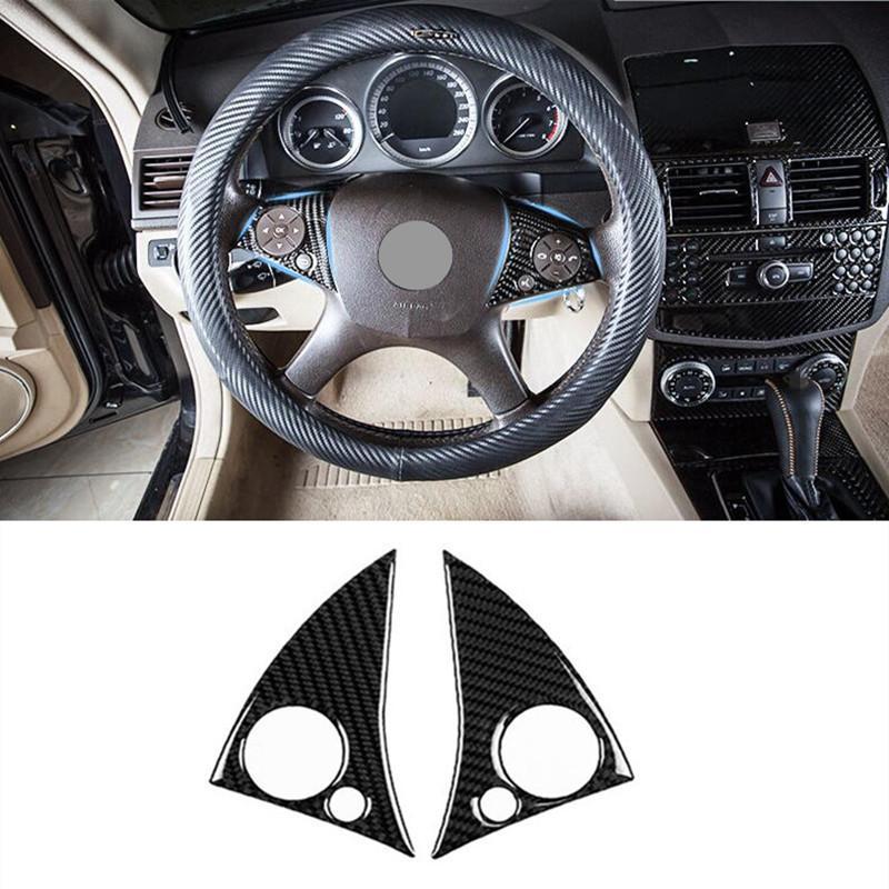 cb5ee72ce71 Compre Botões De Volante Quadro Decoração Guarnição Da Tampa Para Mercedes  Benz C Classe W204 2007 2010 Fibra De Carbono Acessórios Do Carro De  Noric 1