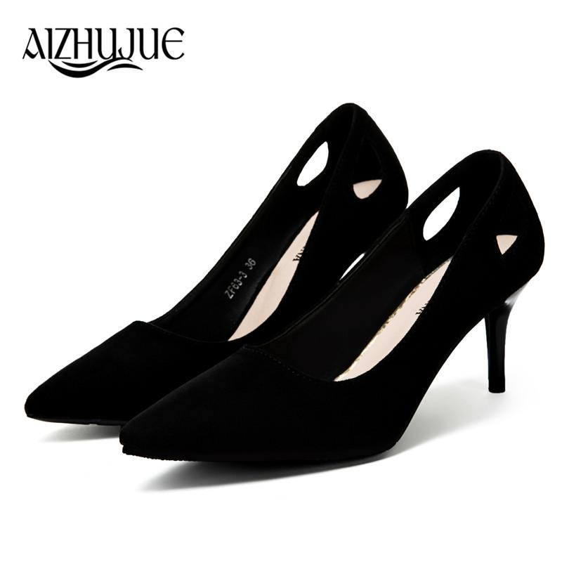 723d0fcd8053 Designer Dress Shoes Fashion Pumps Retro Black High Heels Women S Sexy  Pointed Toe Shallow Solid Silk Elegant Party 2019 7cm 9cm Mens Leather Boots  Mens ...