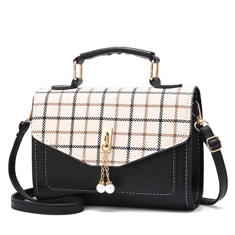 9bf2136bca Sweet Lady Mobile Phone Bag New Fashion Handbag High Quality Pu Ladies  Messenger Bag Small Square Plaid Stitching Shoulder Bag Handbag Wholesale  Hobo Purses ...