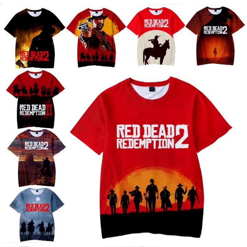 73c024826 2019 Game Red Dead Redemption 2 Men Women T Shirts Harajuku 3D Printed T  Shirt Unisex Cartoon T Shirts Short Sleeve Tshirt Plus Size Tees Tops From  ...