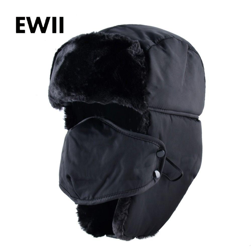 da851f62e9ded 2017 Ushanka Russian Faux Fur Cap Men Winter Hats Ear Flaps Snow Bomber Hat  For Women Warm Troope Caps Gorro Balaclava D19011503 Fitted Hats Straw Hats  From ...