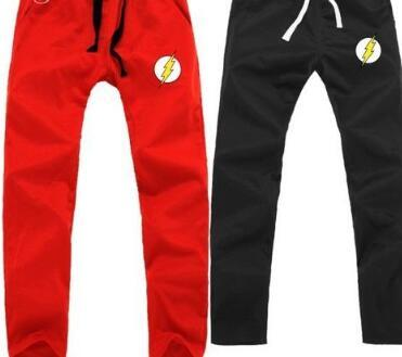 -Jay Garrick Barry Allen Wally West Bart Allen casual pants The flash  costume sweat pants Justice League sport trousers