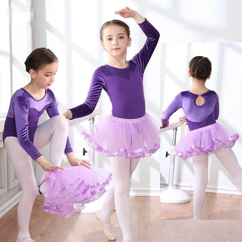 Acheter 2018 Filles Robe De Danse De Ballet Pour Enfants Gymnastique Jupe  Justaucorps Enfants  Stage Dance Wear 2 10 Ans 10 Couleurs De  55.72 Du  Mangcao ... 2cd04ba85d3